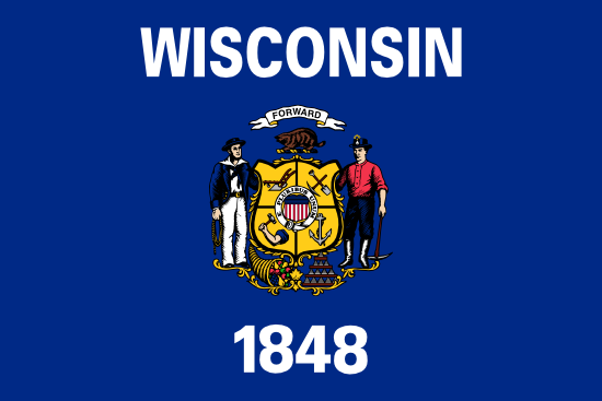 Wisconsin - state flag